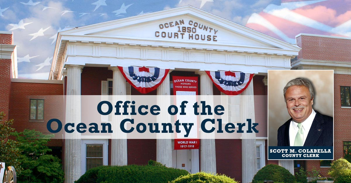 Welcome | Office of the Ocean County Clerk